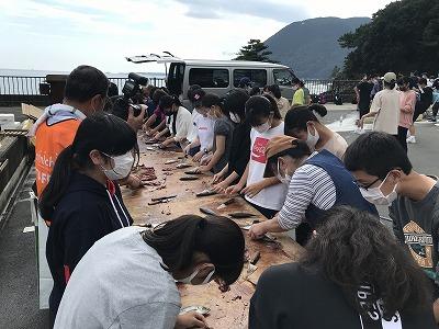 三島市立南中学校自然体験~今井浜民宿組合
