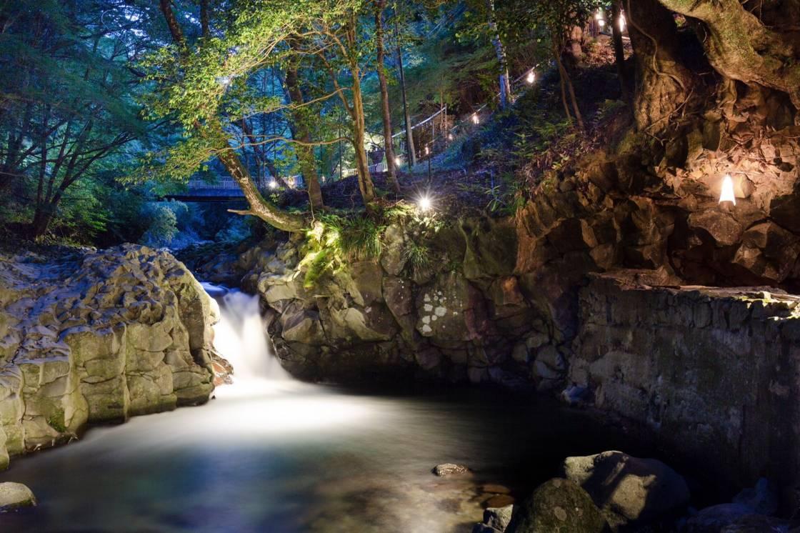 河津七滝 風涼渓とカニ滝ナイトウォーク